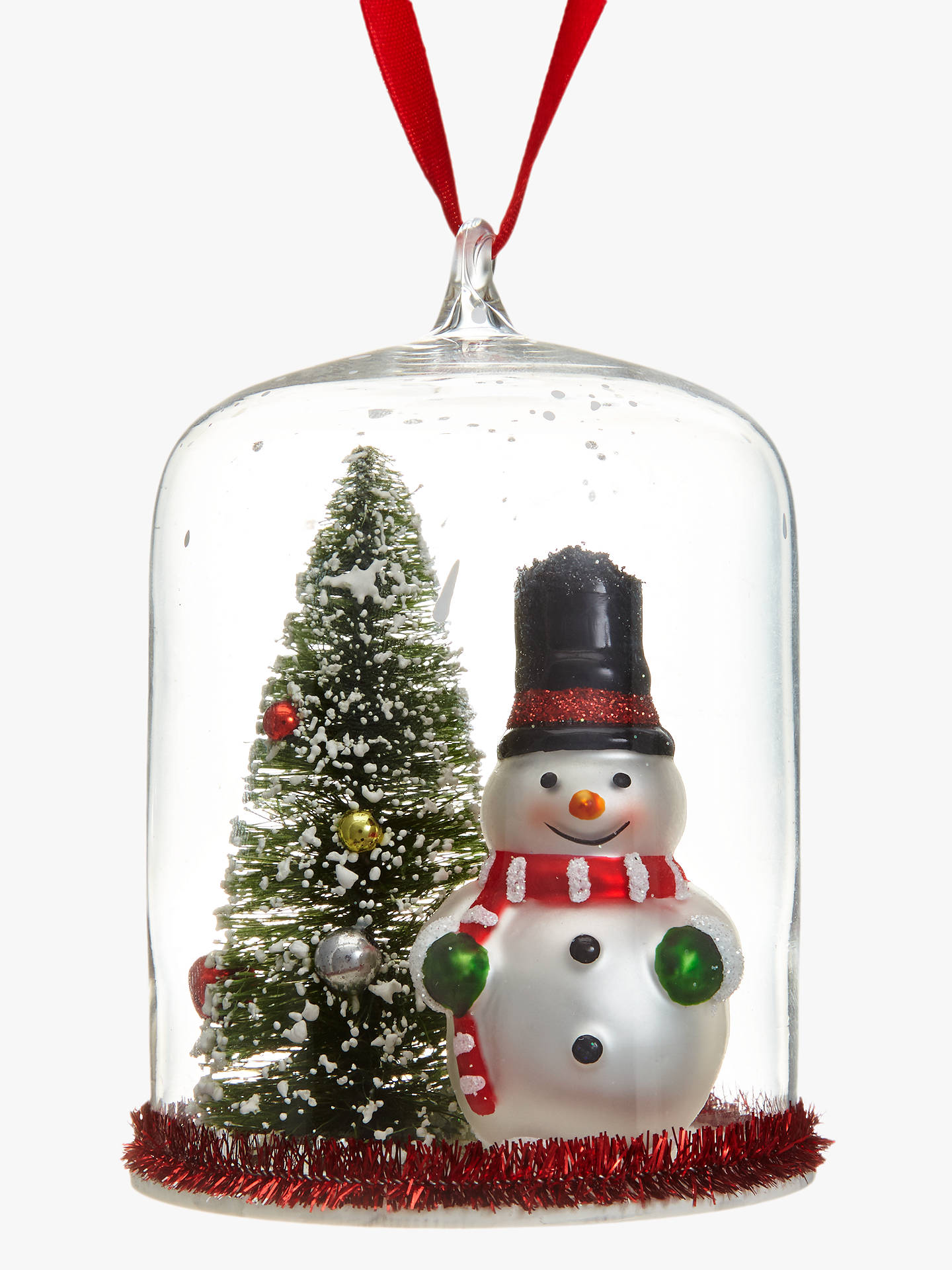 BuyJohn Lewis & Partners Snowman And Tree Dome Bauble Online at johnlewis.com