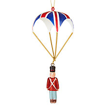Buy John Lewis Tourism Soldier With Parachute Bauble Online at johnlewis.com