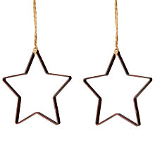 Buy John Lewis Helsinki Two Metal Star Tree Decoration Online at johnlewis.com