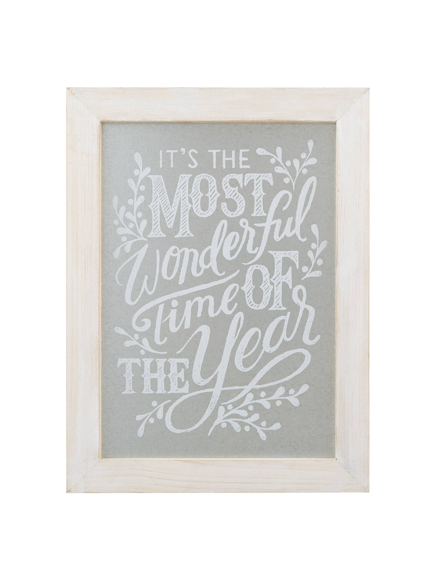 Buy John Lewis Snowshill 'It's The Most Wonderful Time Of Year' Sign Online at johnlewis.com