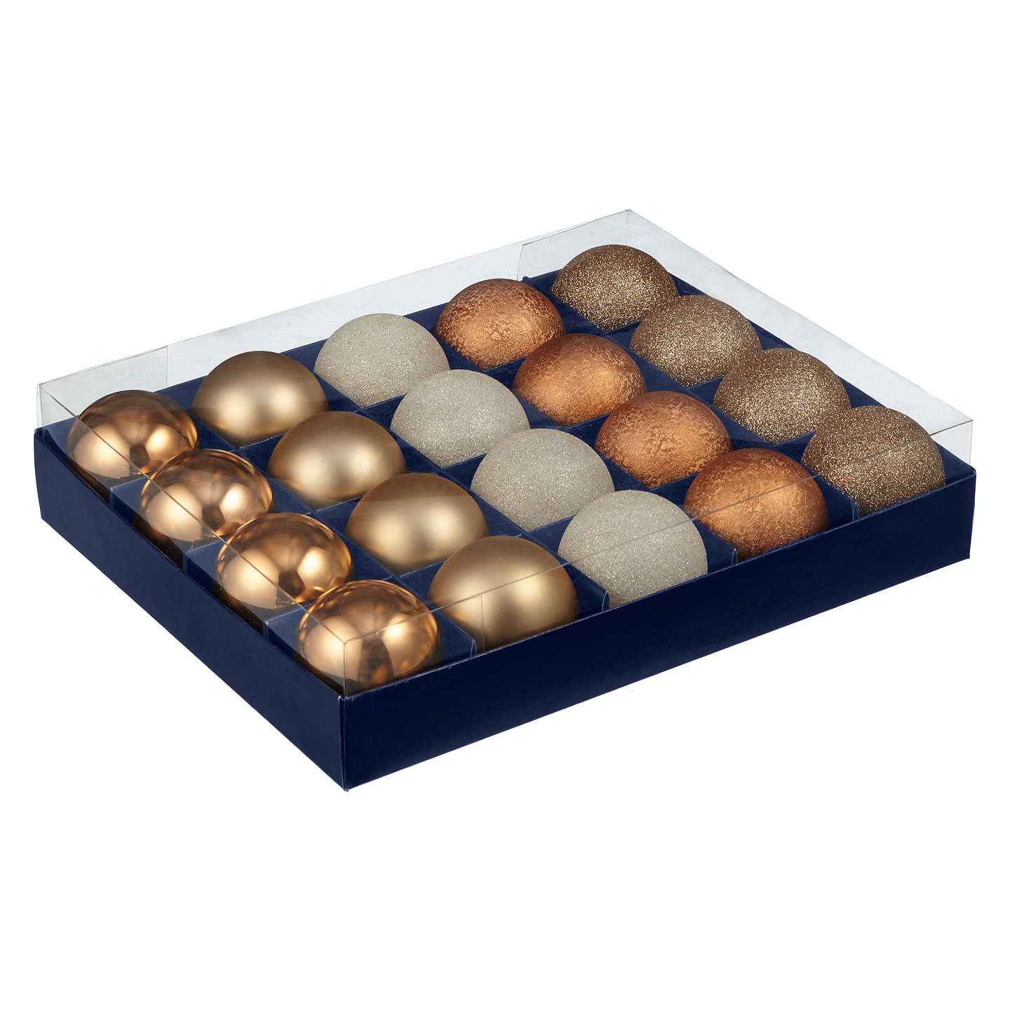 BuyJohn Lewis Helsinki Shatterproof Baubles, Tray of 20 Online at johnlewis.com