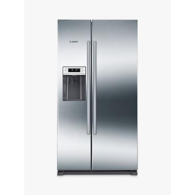 Bosch KAD90VI20G American Style Freestanding Fridge Freezer, A+ Energy Rating, 91cm, Grey