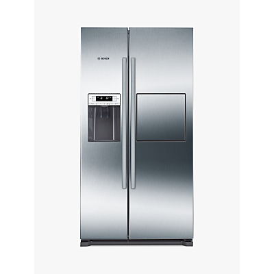 Bosch KAG90AI20G American Style Freestanding Fridge Freezer, A+ Energy Rating, 91cm Wide