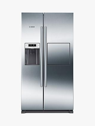 Bosch KAG90AI20G American Style Freestanding Fridge Freezer, A+ Energy Rating, 91cm Wide