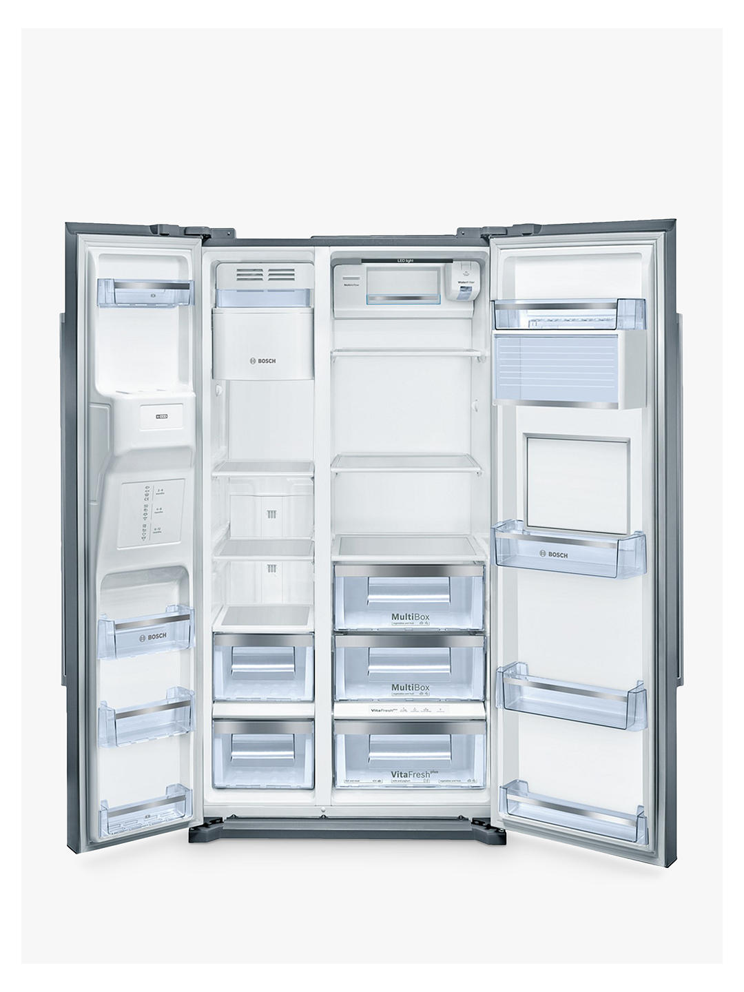 Buy Bosch KAG90AI20G American Style Freestanding 60/40 Fridge Freezer, A+ Energy Rating, 91cm Wide Online at johnlewis.com