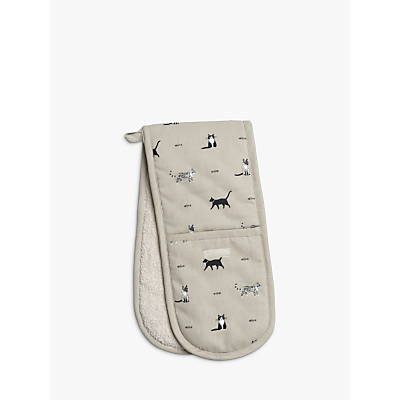 Product photo of Sophie allport cat double oven glove multi