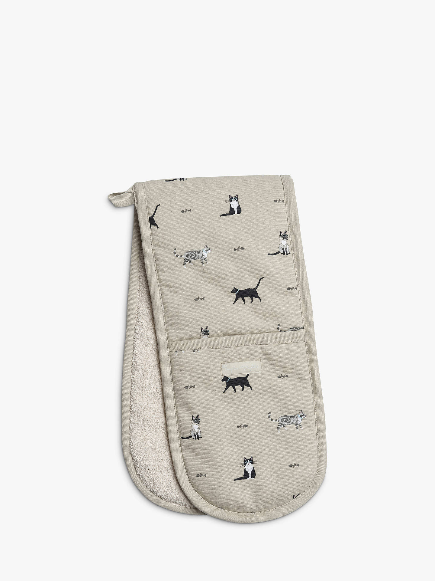 BuySophie Allport Cat Double Oven Glove, Multi Online at johnlewis.com