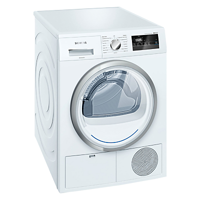 Image of Siemens WT45H200GB Freestanding Heat Pump Condenser Tumble Dryer, 8kg Load, A++ Energy Rating, White