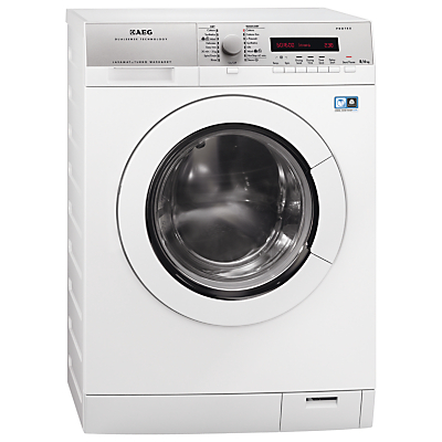 AEG L76685NWD Freestanding Washer Dryer, 8kg Wash/6kg Dry Load, A Energy Rating, 1600rpm Spin, White