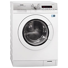 Buy AEG L76685NWD Freestanding Washer Dryer, 8kg Wash/6kg Dry Load, A Energy Rating, 1600rpm Spin, White Online at johnlewis.com