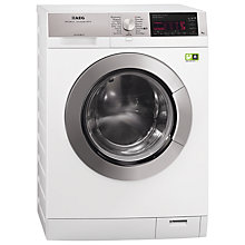 Buy AEG L99699FL Freestanding Washing Machine, 9kg Load, A+++ Energy Rating, 1600rpm Spin, White Online at johnlewis.com