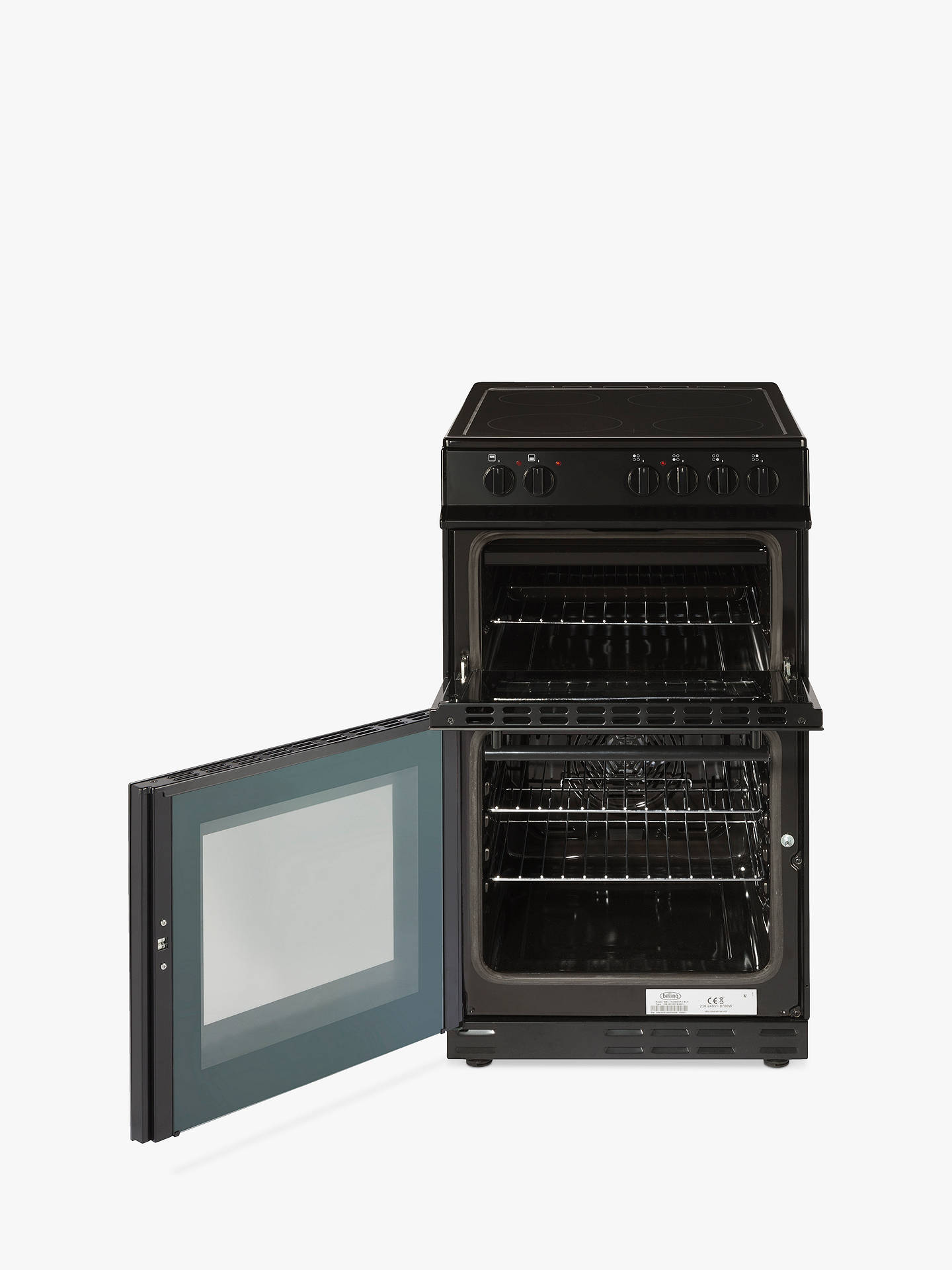 BuyBelling FS50EDOFC Freestanding Electric Cooker, Black Online at johnlewis.com
