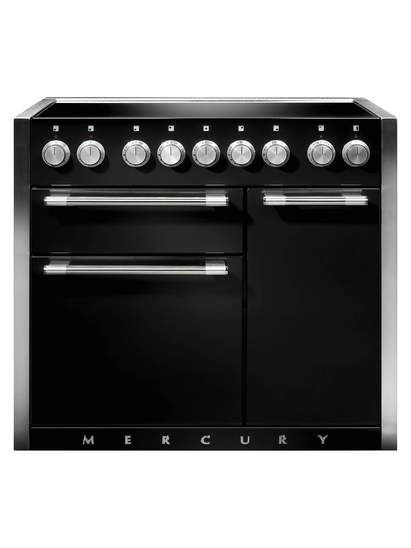 Buy Mercury 1000 Electric Range Cooker with Induction Hob, Ash Black Online at johnlewis.com