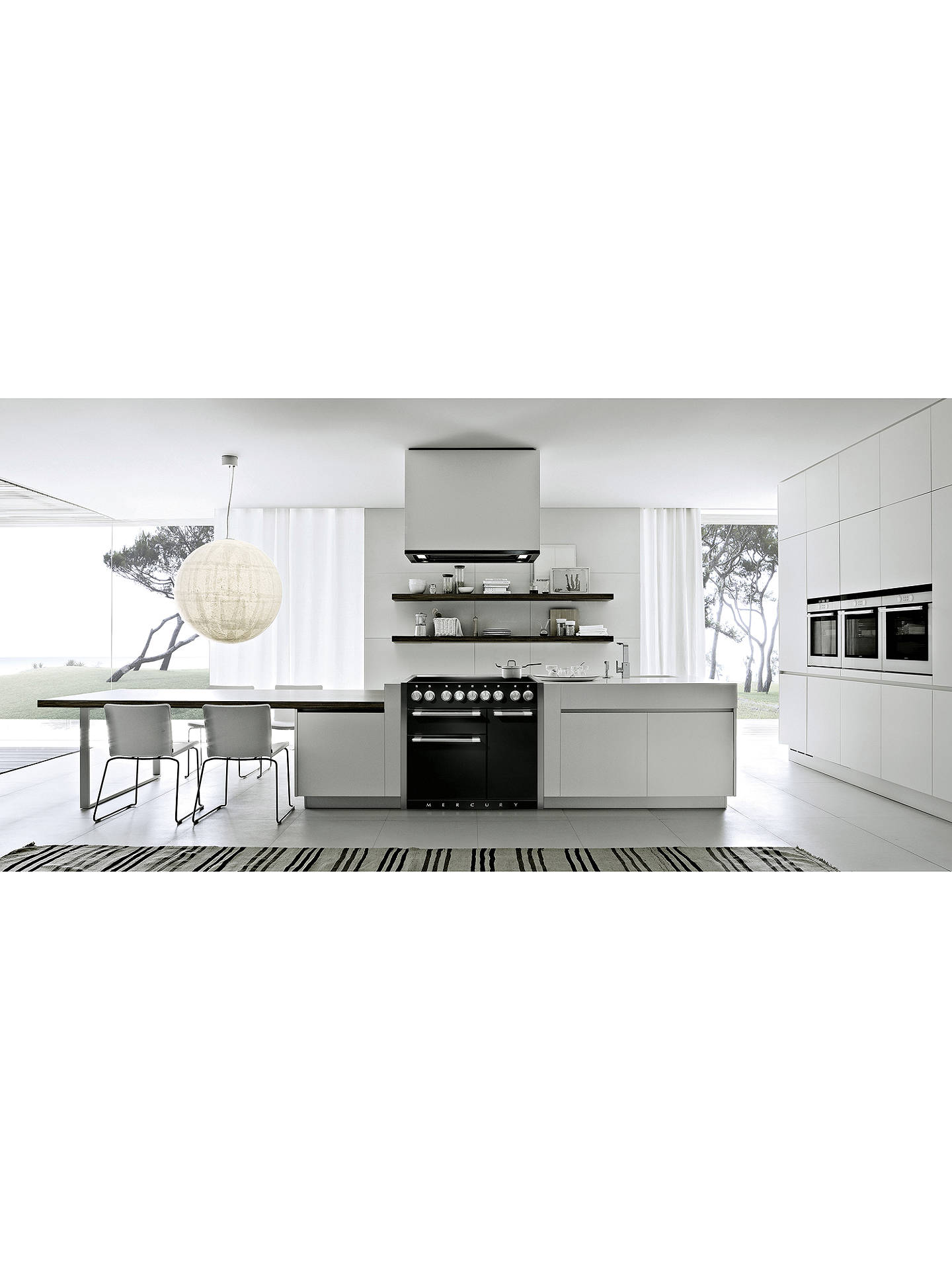 BuyMercury 1000 Electric Range Cooker with Induction Hob, Ash Black Online at johnlewis.com