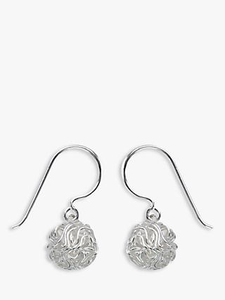 Nina B Knot Drop Earrings, Silver