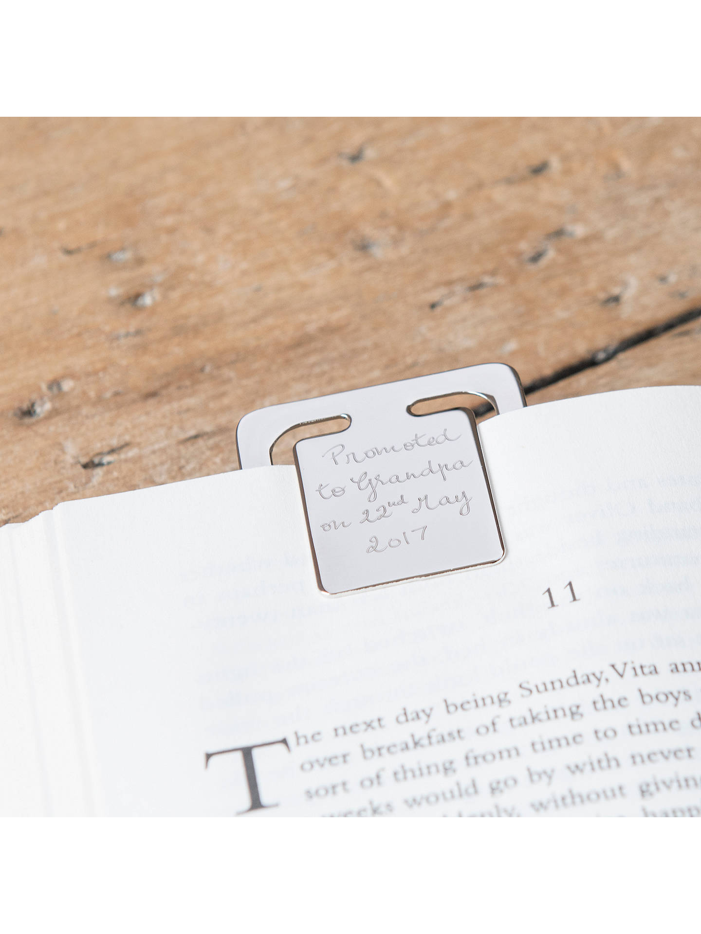 Buy Merci Maman Personalised Bookmark Clip, Silver Online at johnlewis.com