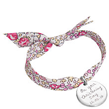 Buy Merci Maman Personalised Disc Liberty Bracelet Online at johnlewis.com