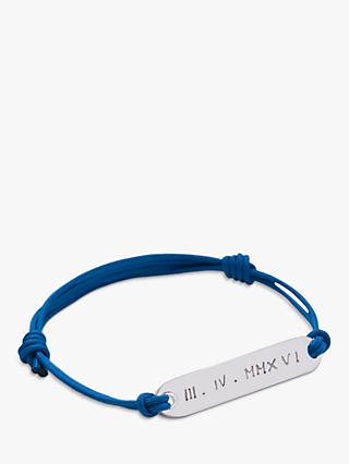 Merci Maman Personalised Sterling Silver Men's Identity Bracelet
