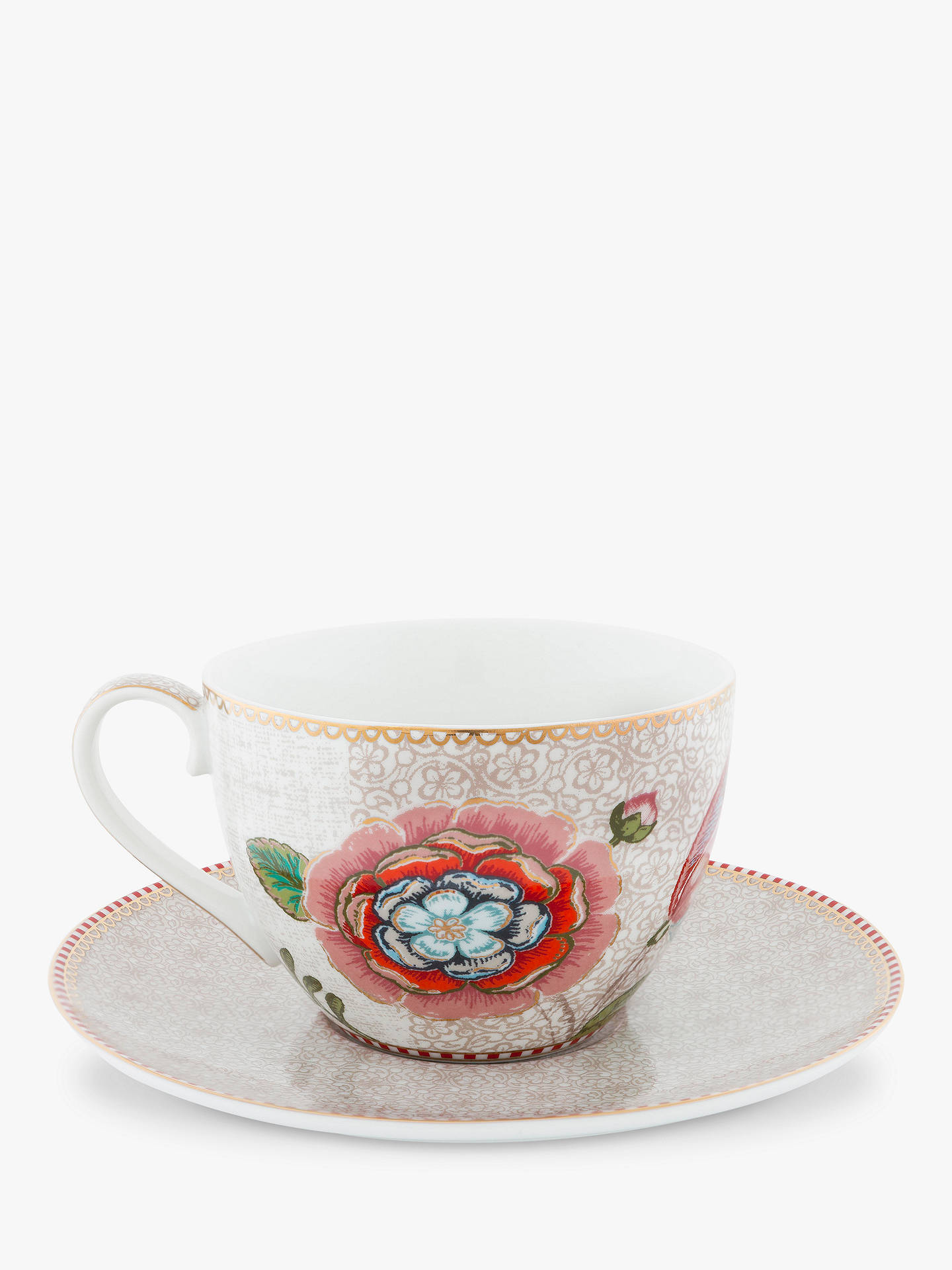 f40bf97ca3d Buy PiP Studio Spring to Life Cup and Saucer, Cream Online at johnlewis.com