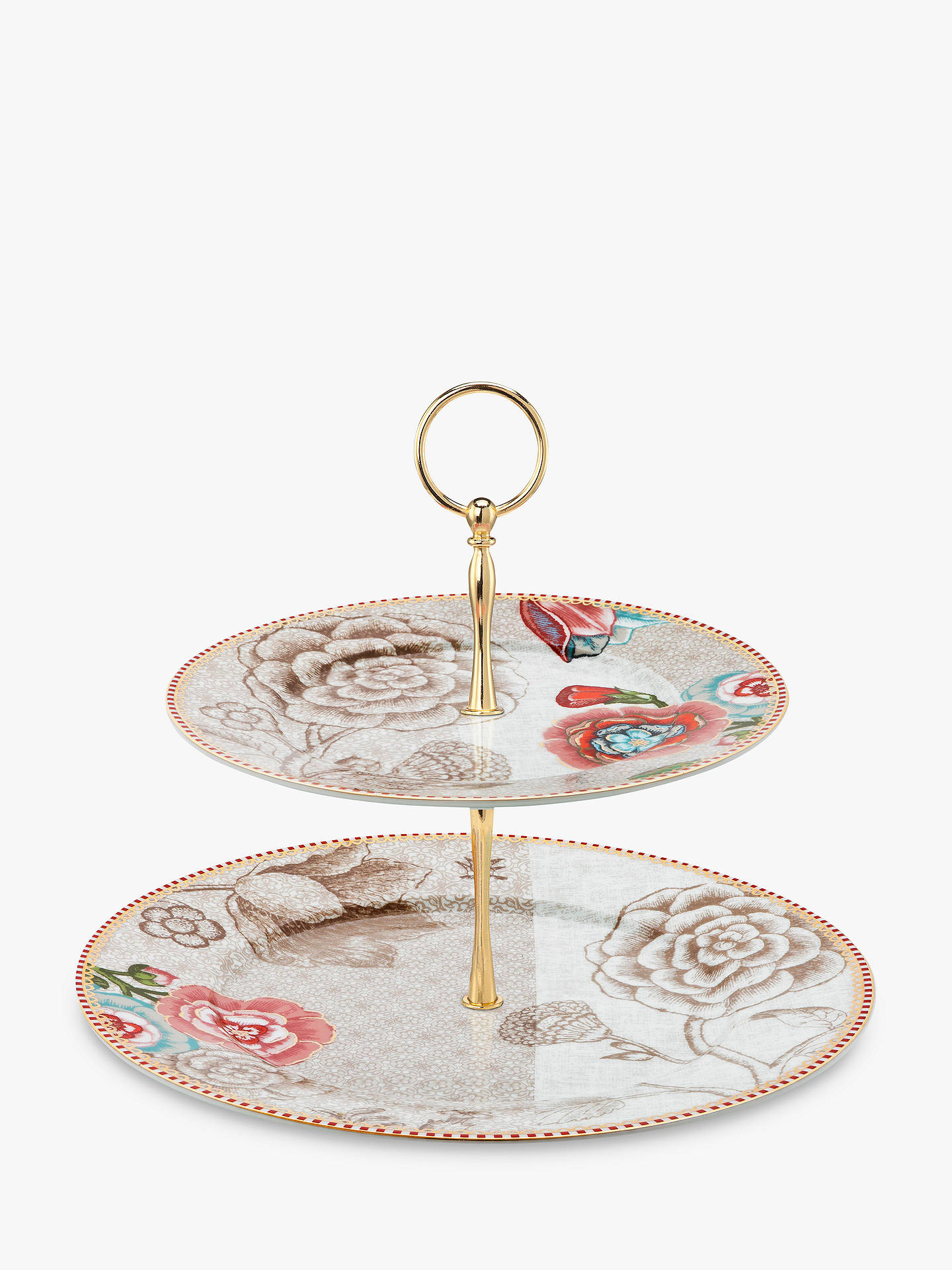 BuyPiP Studio Spring to Life 2 Tier Cake Stand, Natural Online at johnlewis.com
