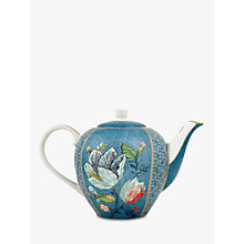 Buy PiP Studio Spring To Life Teapot, Blue Online at johnlewis.com
