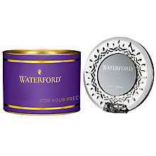 Buy Waterford Giftology Round Mini Frame, Clear Online at johnlewis.com