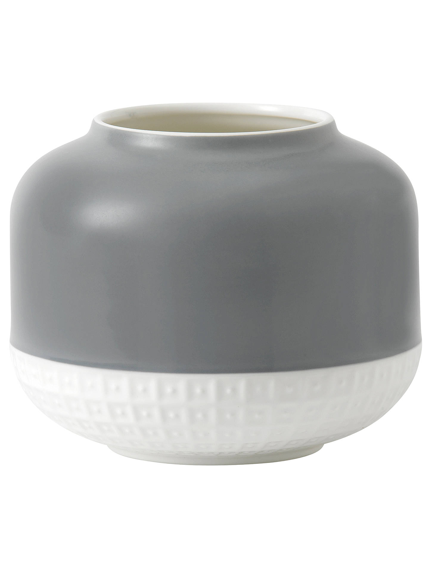 Hemingwaydesign For Royal Doulton Rose Vase H14 3cm Grey