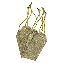 Buy John Lewis Glitter Gift Tags, Pack of 5, Gold Online at johnlewis.com