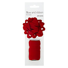 Buy John Lewis Ribbon and Gift Bow, Red Online at johnlewis.com