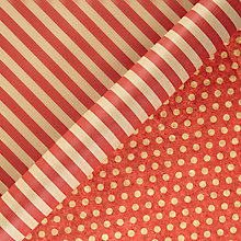 Buy John Lewis Red Spot And Stripe Kraft Roll Wrap, Pack of 2 Online at johnlewis.com
