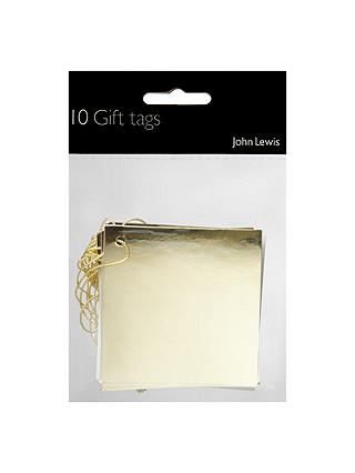 Buy John Lewis & Partners Gold Foil Gift Tags, Pack of 10 Online at johnlewis.com