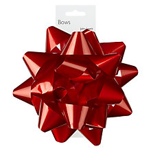 Buy John Lewis Shiney Confetti Bow, Red Online at johnlewis.com