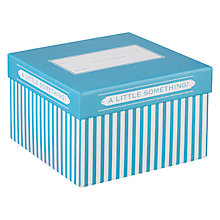 Buy John Lewis Candy Stripe Gift Box, Small, Turquoise Online at johnlewis.com
