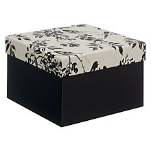 Buy John Lewis Wedding Gift Box, Small, Black Online at johnlewis.com