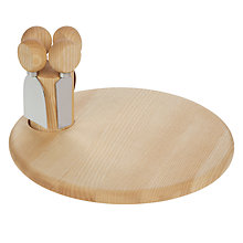 Buy John Lewis Alpine Cheese Board and Knives Set Online at johnlewis.com
