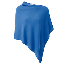 Buy Pure Collection Presley Gassato Cashmere Poncho, Nordic Blue Online at johnlewis.com