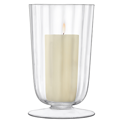 LSA International Light Fluted Hurricane Candle Holder, Medium