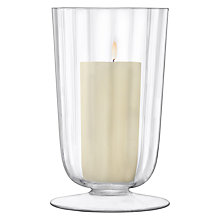Buy LSA International Light Fluted Hurricane Candle Holder, Medium Online at johnlewis.com