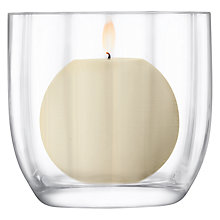 Buy LSA International Light Fluted Candle Holder, 10.5cm Online at johnlewis.com