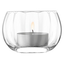 Buy LSA International Light Fluted Tealight Holder, 8cm Online at johnlewis.com