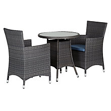 Buy John Lewis Malaga 2-Seat BistroTable & Armchairs (x2), Grey Online at johnlewis.com