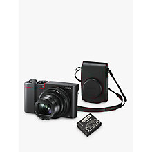 "Buy Panasonic Lumix DMC-TZ100KITEB-R Digital Camera, 4K Ultra HD, 20.1MP, 10x Optical Zoom, Wi-Fi, EVF, 3"" LCD Touch Screen with Leather Camera Case & Battery Kit Online at johnlewis.com"