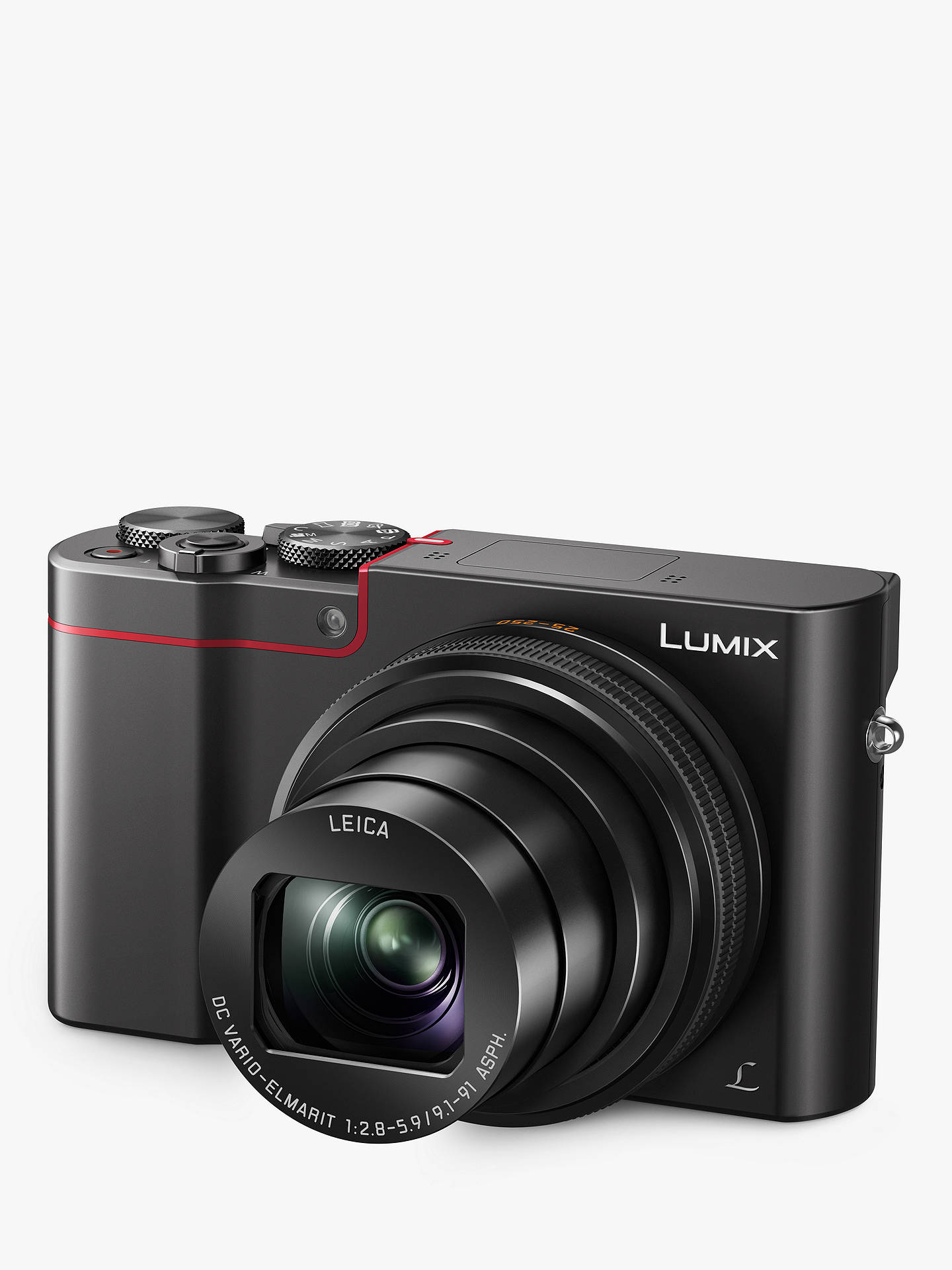 "BuyPanasonic Lumix DMC-TZ100KITEB-R Digital Camera, 4K Ultra HD, 20.1MP, 10x Optical Zoom, Wi-Fi, EVF, 3"" LCD Touch Screen with Leather Camera Case Online at johnlewis.com"