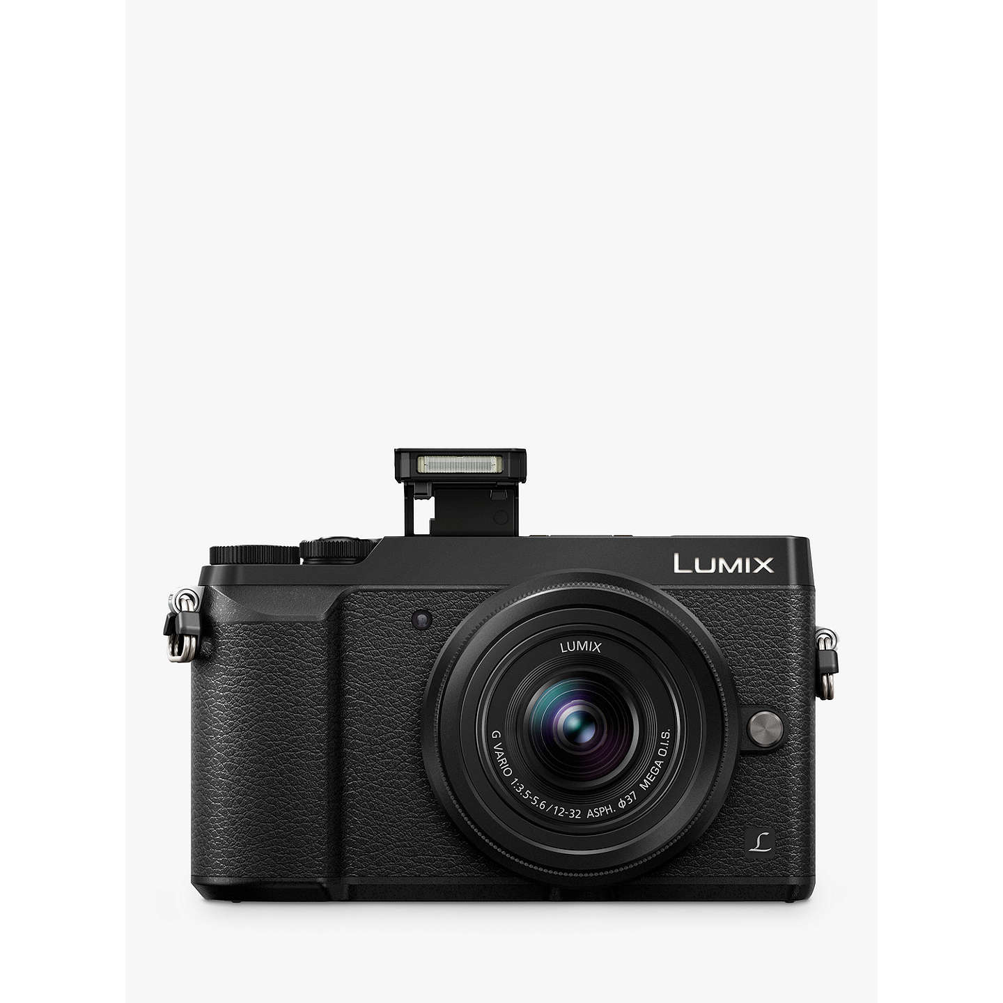 "BuyPanasonic Lumix DMC-GX80 Compact System Camera with 12-32mm Interchangable Lens, 4K Ultra HD, 16MP, 4x Digital Zoom, Wi-Fi, 3"" LCD Touchscreen Free-Angle Monitor, Black Online at johnlewis.com"