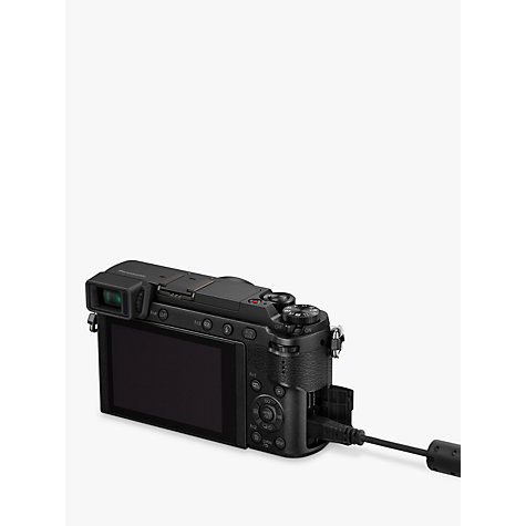 "Buy Panasonic Lumix DMC-GX80 Compact System Camera with 12-32mm Interchangable Lens, 4K Ultra HD, 16MP, 4x Digital Zoom, Wi-Fi, 3"" LCD Touchscreen Free-Angle Monitor Online at johnlewis.com"