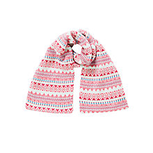 Buy John Lewis Children's Fair Isle Scarf, Pink/Multi Online at johnlewis.com