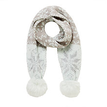 Buy John Lewis Children's Snowflake Scarf, Grey Online at johnlewis.com