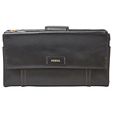 Buy Fossil Ellis Leather Clutch Purse, Black Online at johnlewis.com