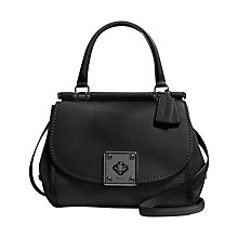 Buy Coach Drifter Leather Satchel, Black Online at johnlewis.com