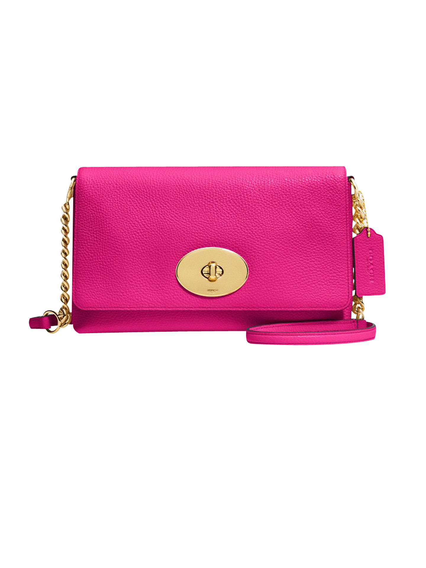 Buy Coach Crosstown Leather Across Body Bag, Cerise Online at johnlewis.com